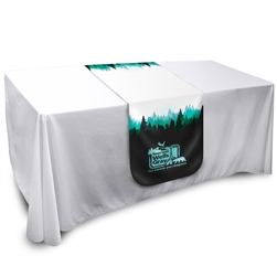 6ft x 2ft Round Table Runner with Full Colour Graphic