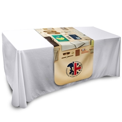 6ft x 3ft Round Table Runner with Full Colour Graphic