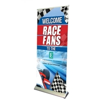 "33"" Premium Roll Up Retractable Banner Stand"