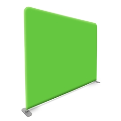 10 ft Straight Tube Display With Green and Blue Screen Fabric Print