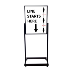 COVID-19 Line Mark Heavy Duty Poster Sign Holder