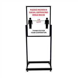 COVID-19 Distancing Heavy Duty Poster Sign Holder