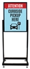 COVID-19 Curbside Heavy Duty Poster Sign Holder