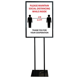COVID-19 Poster Sign Holder Floor Stand