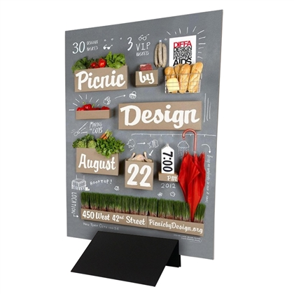 "12"" Metal Sign Base with 36""x48"" Coroplast Poster Sign"