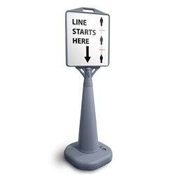 Outdoor Cone Poster Sign Line Marker