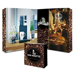 Trade Show Booth Package -  L-Shaped Illuminated Back-Lit Display