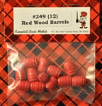 Wood Barrels Red HO scale