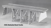 Ballasted Deck Pile Trestle Kit HO scale