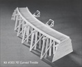 Curved Trestle Kit HO scale