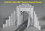 Timber Tunnel Portal Kit N scale