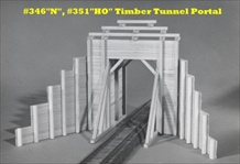 Timber Tunnel Portal Kit HO scale