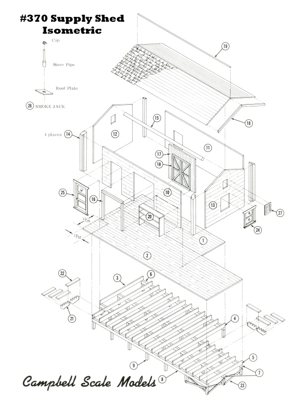Supply Shed And Single Handcar Hut Kit Ho Scale