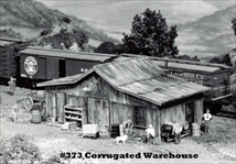 Corrugated Warehouse Kit HO scale