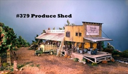 Produce Shed Kit HO scale