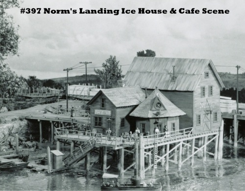 Norms Landing Ice House Cafe Kit Ho Scale