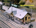 Quincy Station Kit HO scale