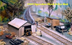 Quincy Speeder Shed and Ice House Kit HO scale