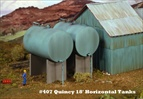Quincy 18 ft Horizontal Tanks Kit HO scale