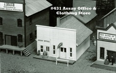 Assay Office and Clothing Store Kit HO scale