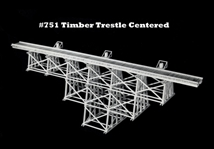 Tall Timber Trestle Kit Centered HO scale