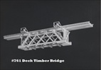 Deck Timber Bridge Kit HO scale