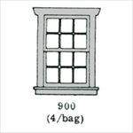 Window (6 over 6) 4 per bag HO scale