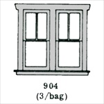 Window (2 over 1 double) 3 per bag HO scale