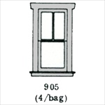 Window (2 over 1 single) 4 per bag HO scale
