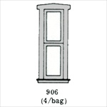 Window (1 over 1 narrow) 4 per bag HO scale