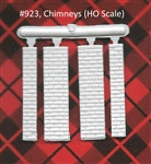 Chimneys 2 per bag HO scale