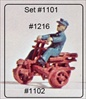 Handcar and Rider HO scale