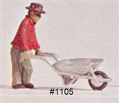 Wheelbarrow HO scale