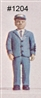 Station Master Light Blue Shirt in HO scale