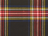 8 yard Traditional kilt - Stewart Black Tartan