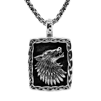 Keith Jack Jewelry Petrichor Sm. Wolf Pendant S/sil  B-PS3773