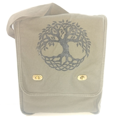 Canvas Messenger Bag Tree of Life