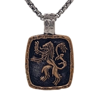 Keith Jack Jewelry Petrichor Med. Lion Rampant Pendant  S/sil + Bronze  BP3696