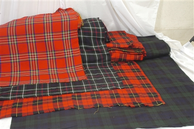 tartan fabric acrylic flashes