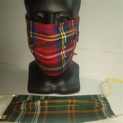 Face masks, facial masks tartan face masks