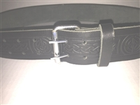 Roller Buckle Emossed Belt