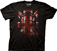 Dr Who - Union Jack Tardis -T-shirt