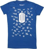 Dr Who - Tally Marks -T-shirt