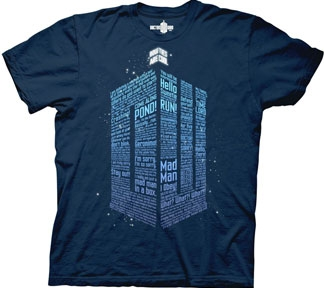 Dr Who -Words -T-shirt