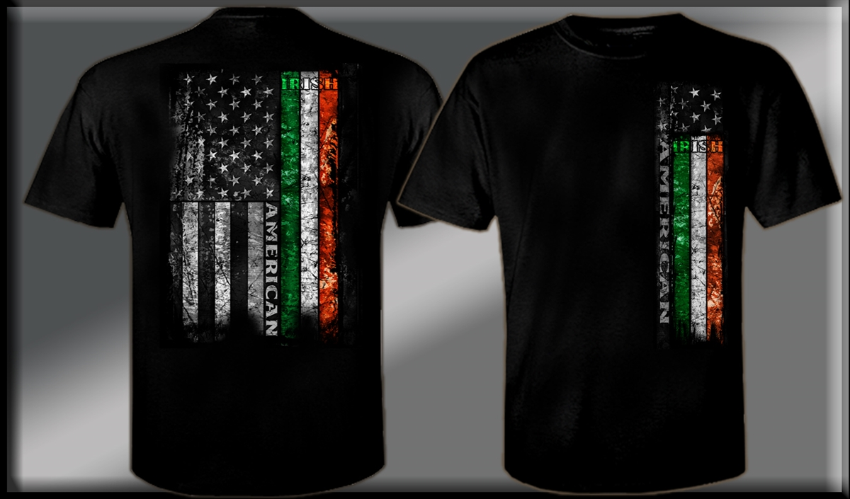 irish american flag t shirt. Black Bedroom Furniture Sets. Home Design Ideas