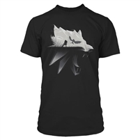 THE WITCHER 3 WOLF SILHOUETTE Tshirt