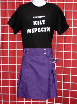 Women's Modern Kilts - Purple Cotton Twill