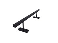 Straight Powder Coated Square Steel Rail -  Black