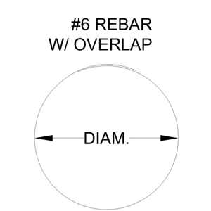 "Rebar Rings #6 8"" Diameter with Overlap"