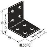 Simpson Strong-Tie HL55PC Heavy Angle Powder Coated Black